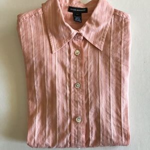 Club Monaco Peach Button Down Small